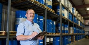 Holtzman employee working in a warehouse