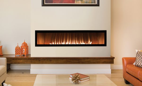 "60"" Vent free Boulevard linear fireplace"