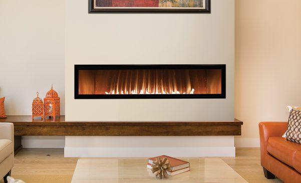 "60"" Vent free Boulevard linear fireplace"
